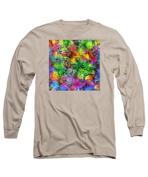 Long Sleeve T-Shirt featuring the digital art Dream Colored Leaves by Klara Acel