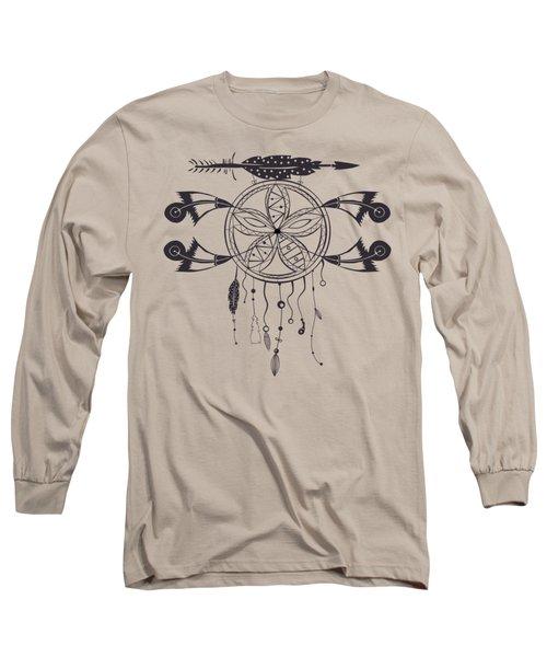 Dreamcatcher 101 Long Sleeve T-Shirt by Ericamaxine Price