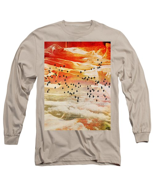 Dreaming Between The Sheets Long Sleeve T-Shirt by Ann Tracy