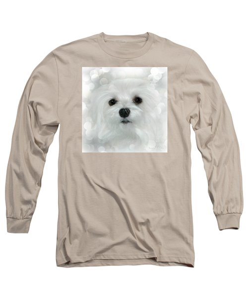Dreams In White Long Sleeve T-Shirt by Morag Bates
