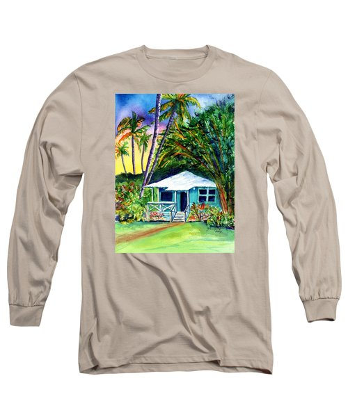 Long Sleeve T-Shirt featuring the painting Dreams Of Kauai 2 by Marionette Taboniar