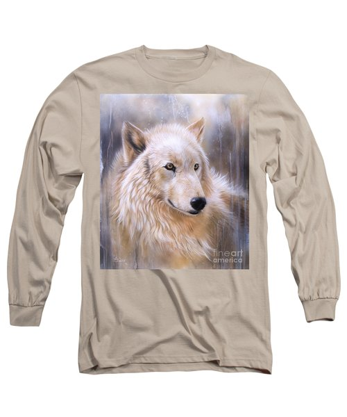 Dreamscape - Wolf II Long Sleeve T-Shirt by Sandi Baker