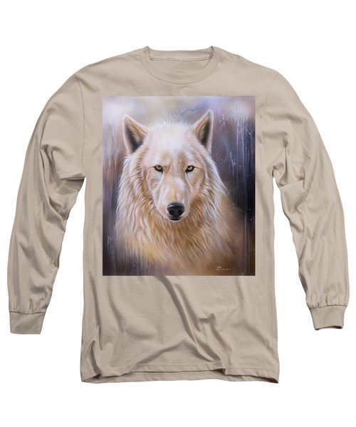 Dreamscape Wolf IIi Long Sleeve T-Shirt by Sandi Baker