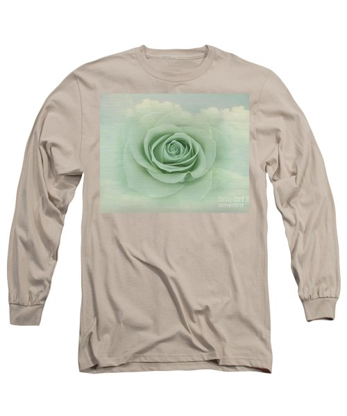 Dreamy Vintage Floating Rose Long Sleeve T-Shirt