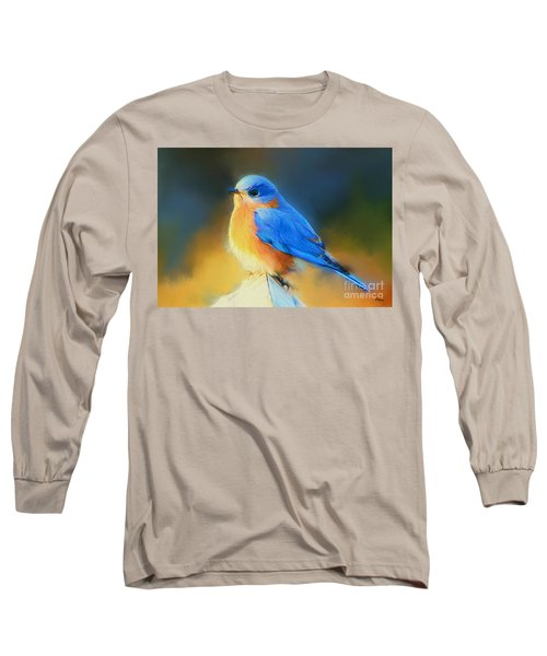 Dressed In Blue Long Sleeve T-Shirt by Tina  LeCour