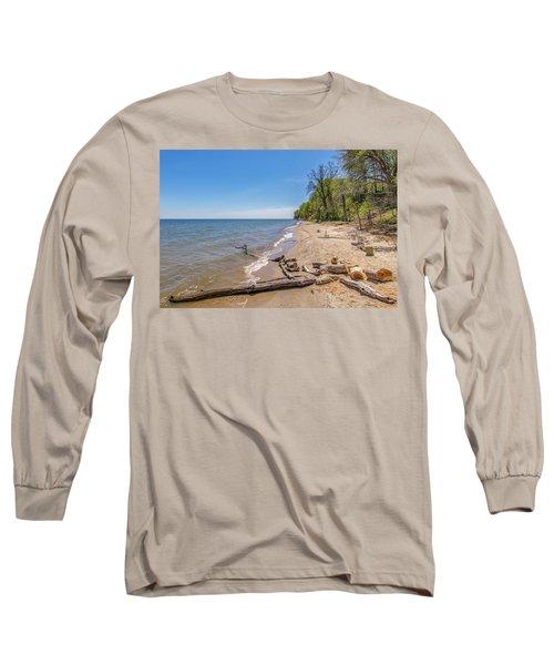 Driftwood On The Beach Long Sleeve T-Shirt