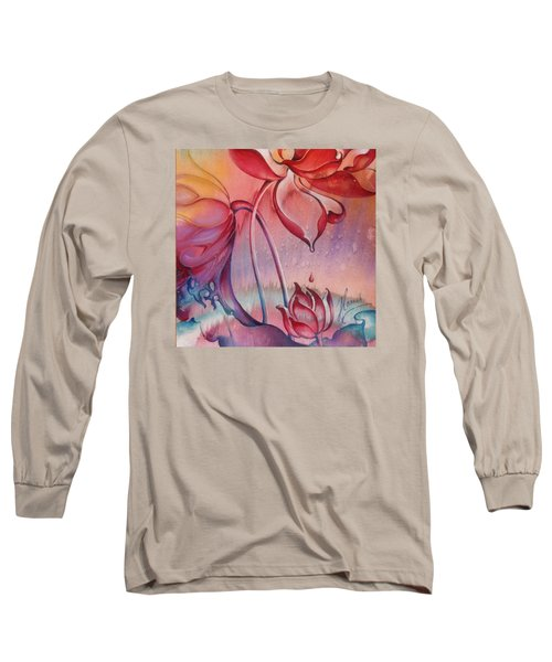Long Sleeve T-Shirt featuring the painting Drop Of Love by Anna Ewa Miarczynska
