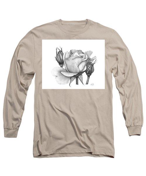 Drum Rose Long Sleeve T-Shirt by Patricia Hiltz