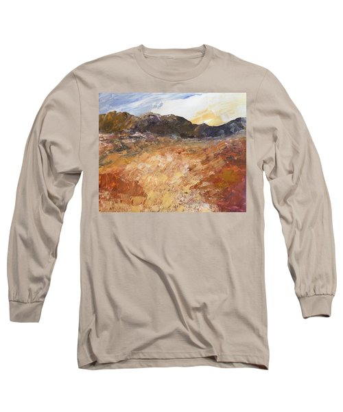 Long Sleeve T-Shirt featuring the painting Dry River by Norma Duch
