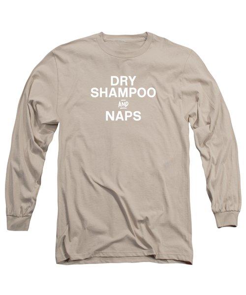 Dry Shampoo And Naps Blush- Art By Linda Woods Long Sleeve T-Shirt