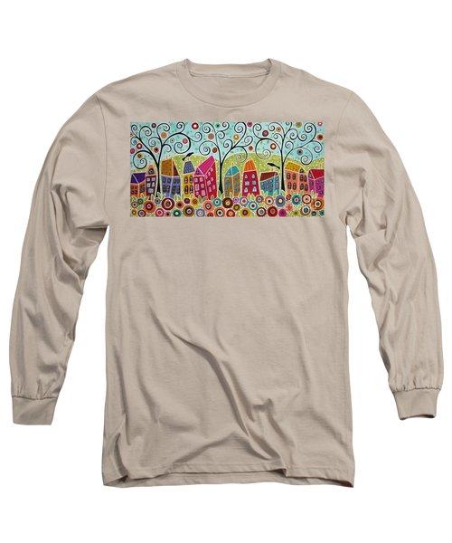 Dsc01598-swirl Tree Village Long Sleeve T-Shirt