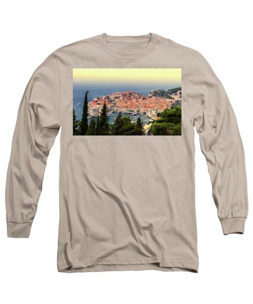 Dubrovnik Old City On The Adriatic Sea, South Dalmatia Region, C Long Sleeve T-Shirt
