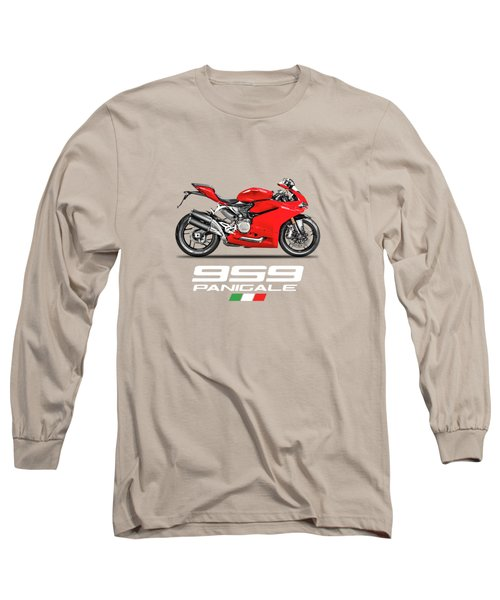 Ducati Panigale 959 Long Sleeve T-Shirt by Mark Rogan