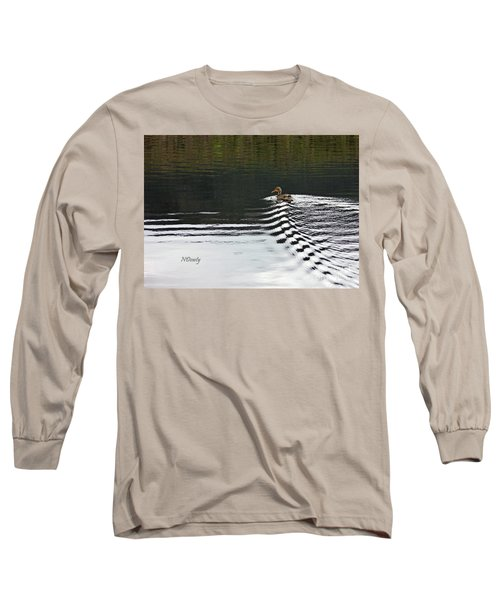 Duck On Ripple Wake Long Sleeve T-Shirt