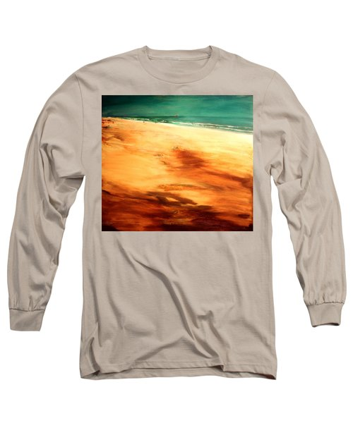 Long Sleeve T-Shirt featuring the painting Dune Shadows by Winsome Gunning