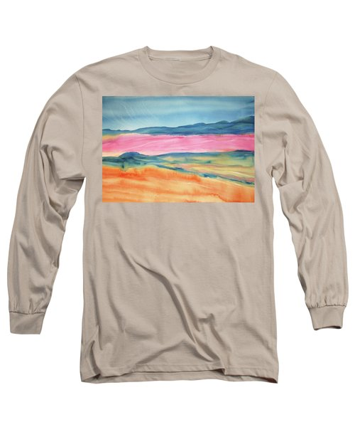 Long Sleeve T-Shirt featuring the painting Dunes by Ellen Levinson