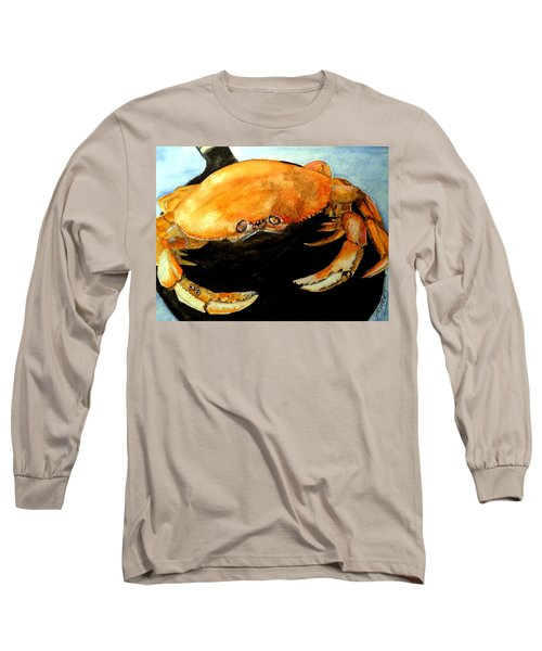 Dungeness For Dinner Long Sleeve T-Shirt by Carol Grimes