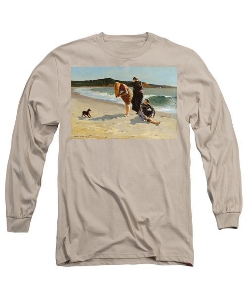 Long Sleeve T-Shirt featuring the painting Eagle Head, Manchester, Massachusetts - 1870 by Winslow Homer
