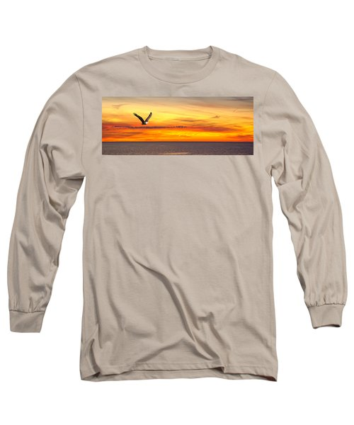 Eagle Panorama Sunset Long Sleeve T-Shirt
