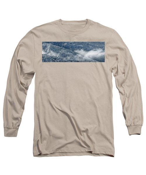 Early Morning After A Snowfall Long Sleeve T-Shirt by Sebastien Coursol