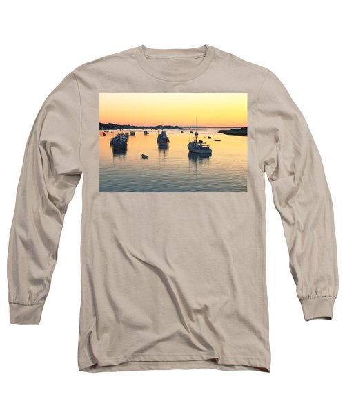 Long Sleeve T-Shirt featuring the photograph Early Morning In Chatham Harbor by Roupen  Baker