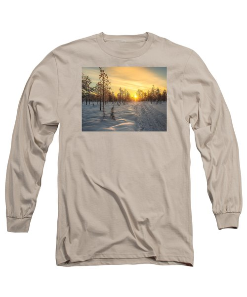 Early Morning Sun Long Sleeve T-Shirt by Rose-Maries Pictures