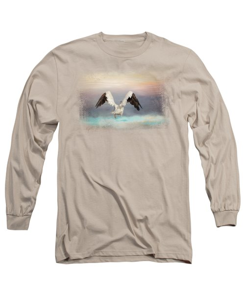 Early Morning Swim Long Sleeve T-Shirt by Jai Johnson