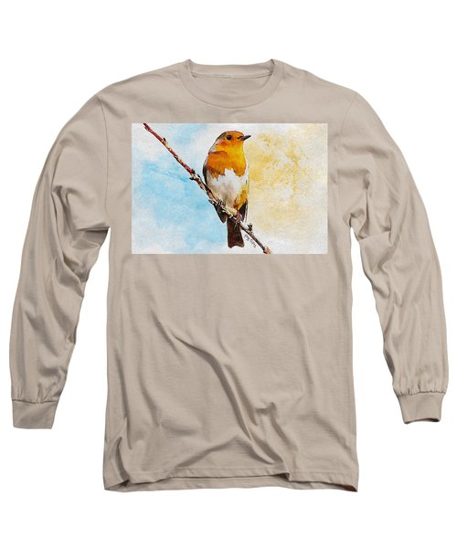 Long Sleeve T-Shirt featuring the painting Early Spring by Greg Collins