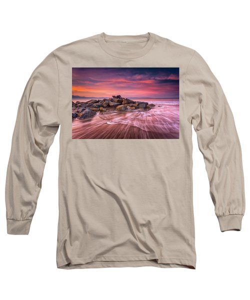 Earth, Water And Sky Long Sleeve T-Shirt by Edward Kreis