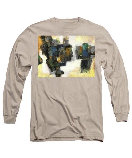 Lemon And Tiles Long Sleeve T-Shirt by Behzad Sohrabi