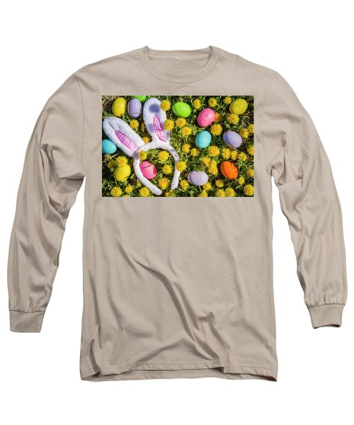Long Sleeve T-Shirt featuring the photograph Easter Bunny Ears by Teri Virbickis