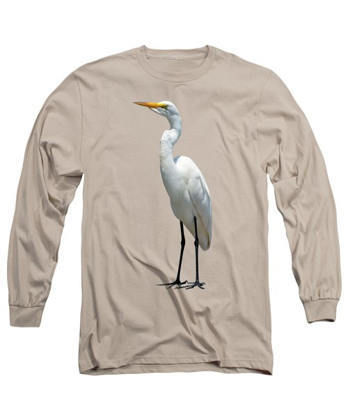 Eastern Great Egret Ardea Alba Modesta Long Sleeve T-Shirt