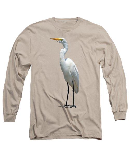 Eastern Great Egret Ardea Alba Modesta Long Sleeve T-Shirt