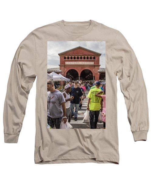 Eastern Market Summer Detroit  Long Sleeve T-Shirt