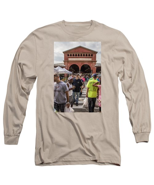 Eastern Market Summer Detroit  Long Sleeve T-Shirt
