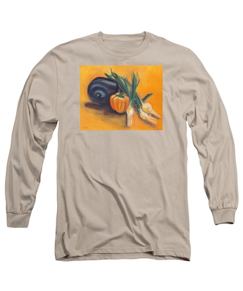 Long Sleeve T-Shirt featuring the painting Eat Your Vegetables by Shawna Rowe