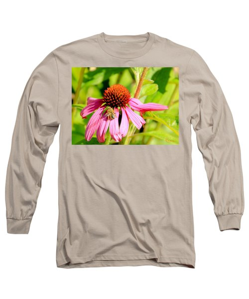 Echinacea Bee Long Sleeve T-Shirt