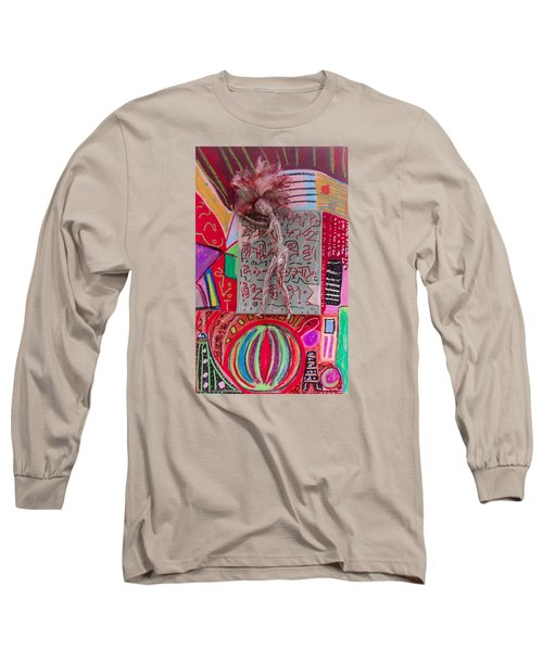 Long Sleeve T-Shirt featuring the painting Echinacea Herbal Tincture by Clarity Artists