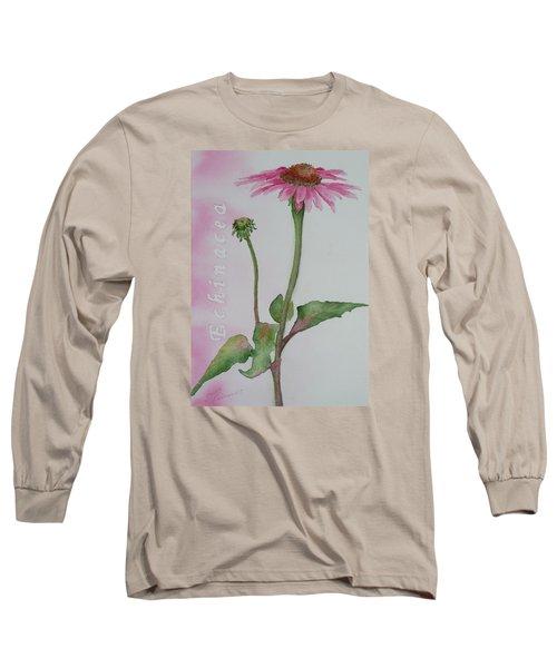 Echinacea Long Sleeve T-Shirt by Ruth Kamenev