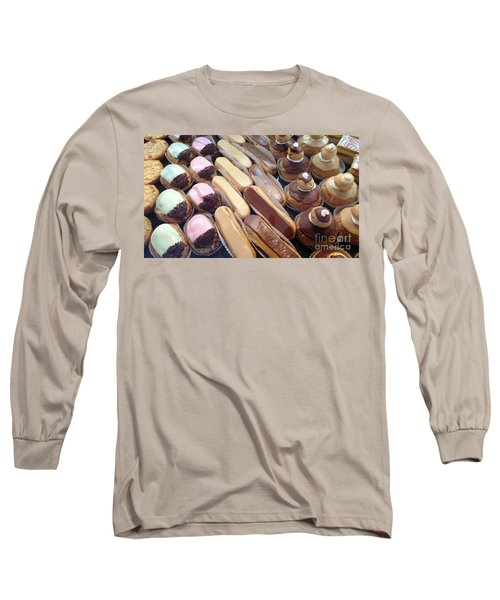Long Sleeve T-Shirt featuring the photograph Eclaires by Therese Alcorn