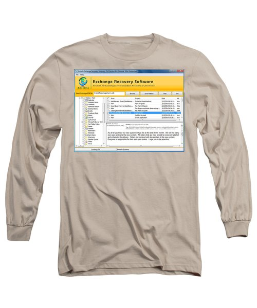 Edb To Ps T Software  Long Sleeve T-Shirt by Tomcruise
