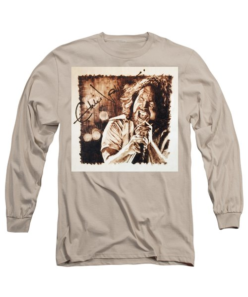Eddie Vedder Long Sleeve T-Shirt by Lance Gebhardt