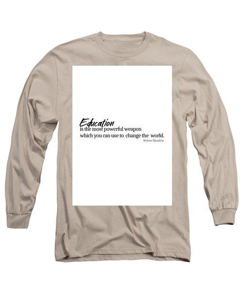 Education #minimalism Long Sleeve T-Shirt