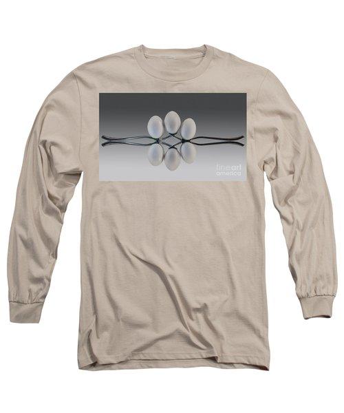 Egg Balance Long Sleeve T-Shirt by Shirley Mangini