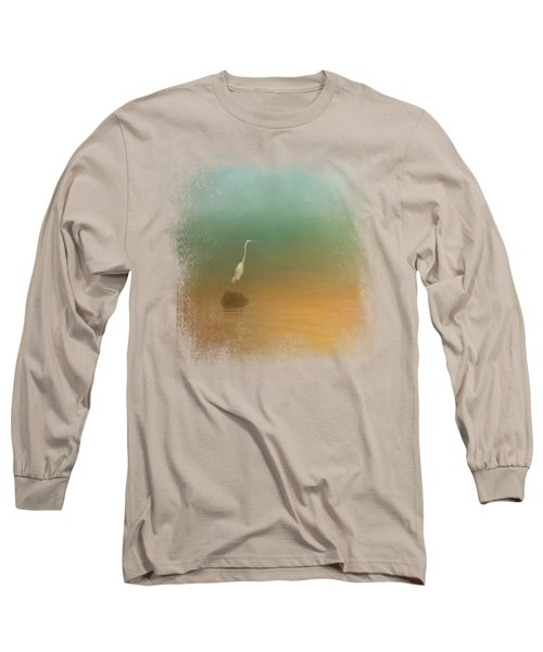 Egret At Sea Long Sleeve T-Shirt