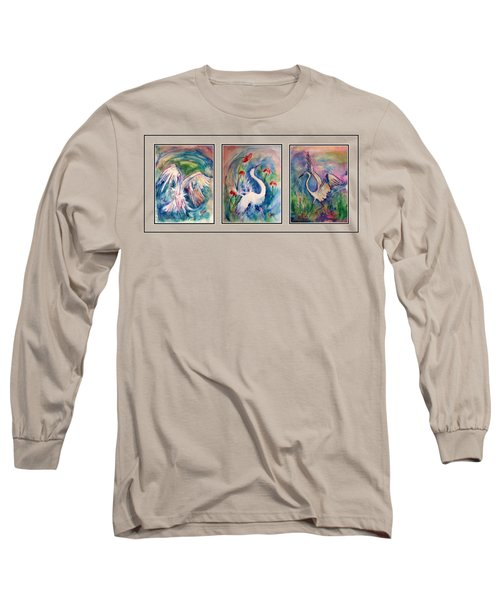 Egret Series Long Sleeve T-Shirt by Robin Monroe