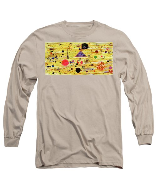 Long Sleeve T-Shirt featuring the painting Egyptian Sunrise by Michael Lucarelli