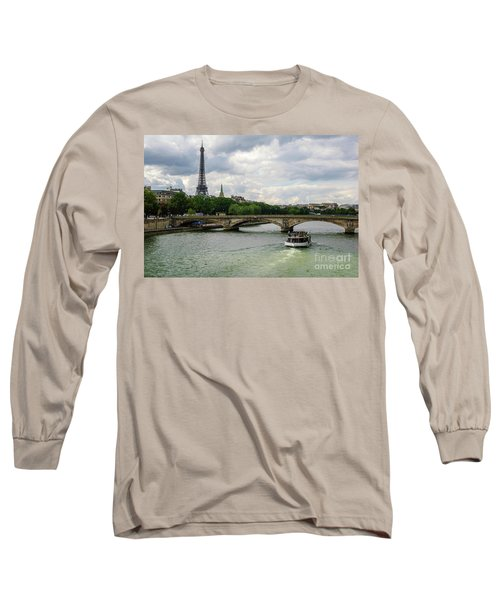 Eiffel Tower And The River Seine Long Sleeve T-Shirt