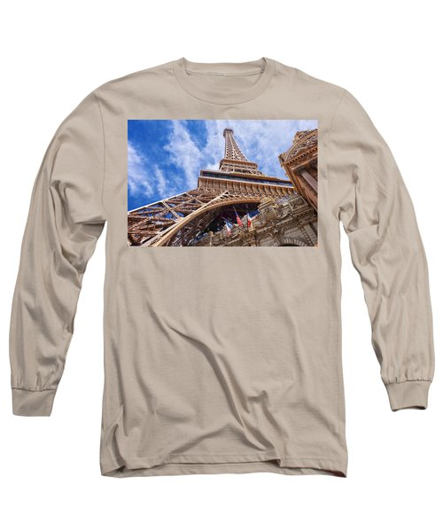 Eiffel Tower Las Vegas  Long Sleeve T-Shirt by Ricardo J Ruiz de Porras
