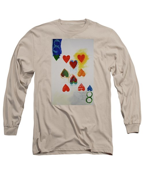 Long Sleeve T-Shirt featuring the painting Eight Of Hearts 9-52  2nd Series  by Cliff Spohn